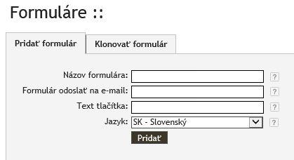 Po pridaní formulára sa zobrazí editor úprav formulára. Vyberáme si  položky 21367939b89